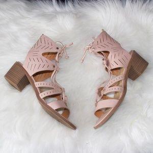 Dolce Vita LUCI Crepe Nubuck Leather Block Heel